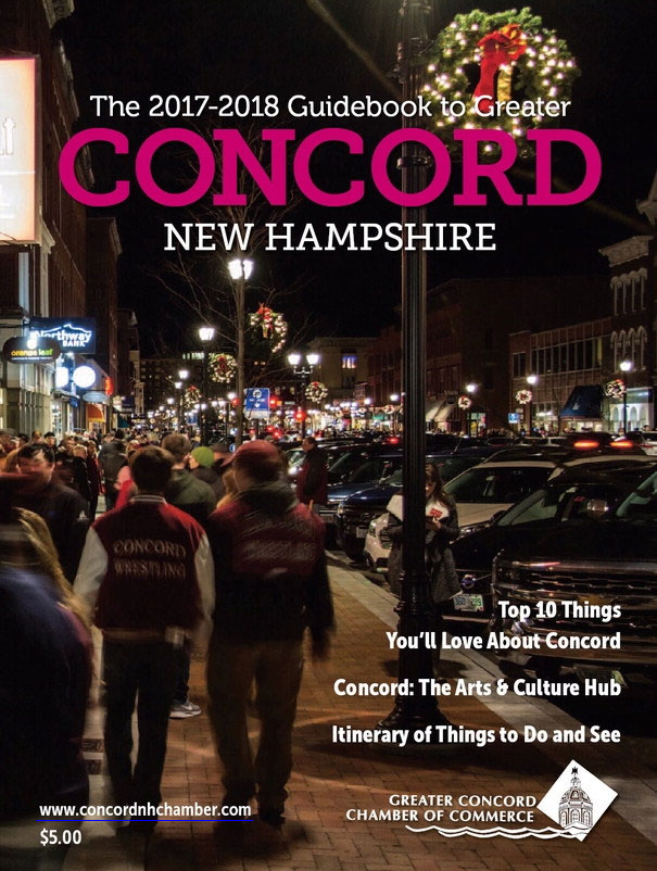 Cover image of the Chamber's 2017-2018 Guidebook to Greater Concord New Hampshire