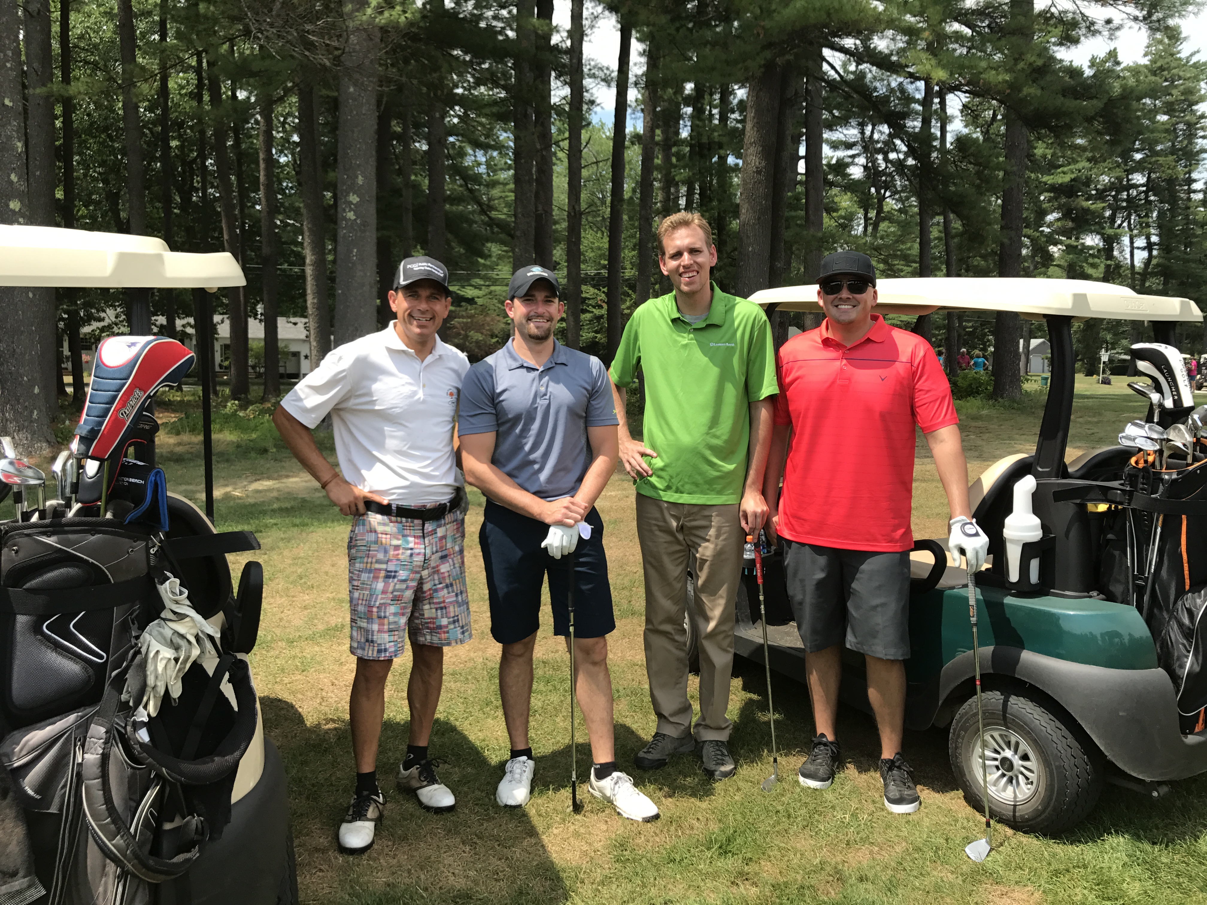 Winners of the 2017 Funds for Education Golf Tournament presented by the Greater Concord Chamber of Commerce: (From left) Brian Lavoie, Daniel Gray, Ryan Desmarais and David Simons