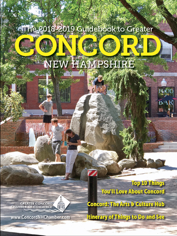 Cover image of the Chamber's 2018-2019 Guidebook to Greater Concord New Hampshire
