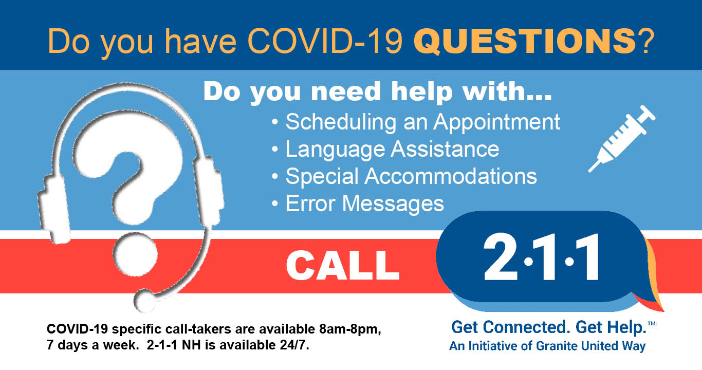 Call 2-1-1 for if you have questions about COVID-19