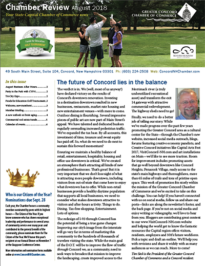 Chamber Review August 2018 cover