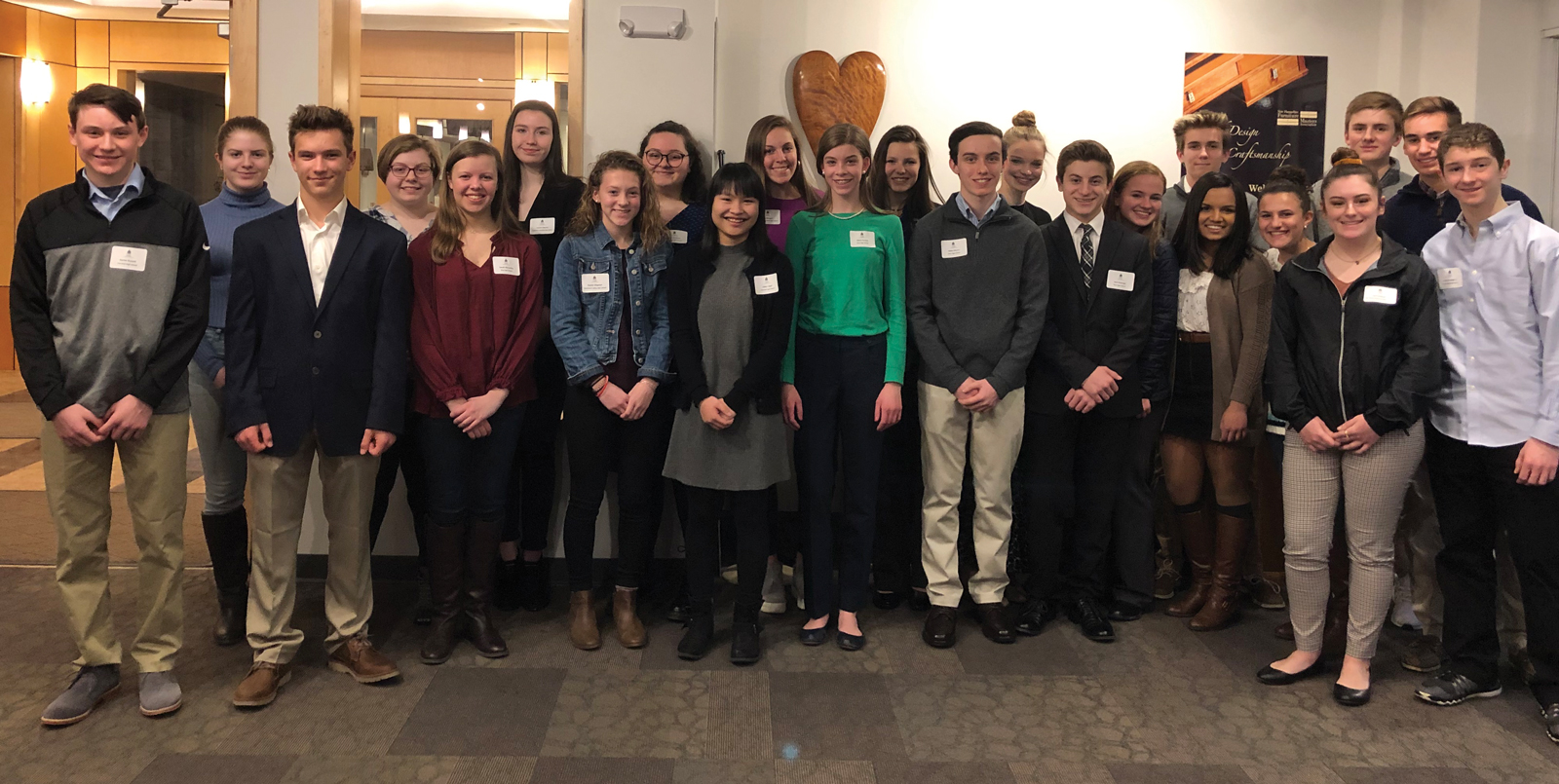 The Greater Concord Chamber of Commerce recently welcomed 24 students from eight Capital region schools selected to take part in the Chamber's highly competitive 2019 Capital Area Student Leadership program, the state's only regional student leadership and civics course offered annually by the Chamber for high school sophomores in the Greater Concord area.