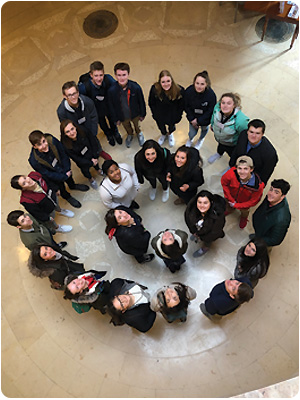 Capital Area Student Leadership Class of 2020 touring the New Hampshire Historical Society during History & Culture Day. CASL is offered by the Greater Concord Chamber of Commerce on an annual basis for high school sophomores who both reside and attend a participating school in NH's Capital region.