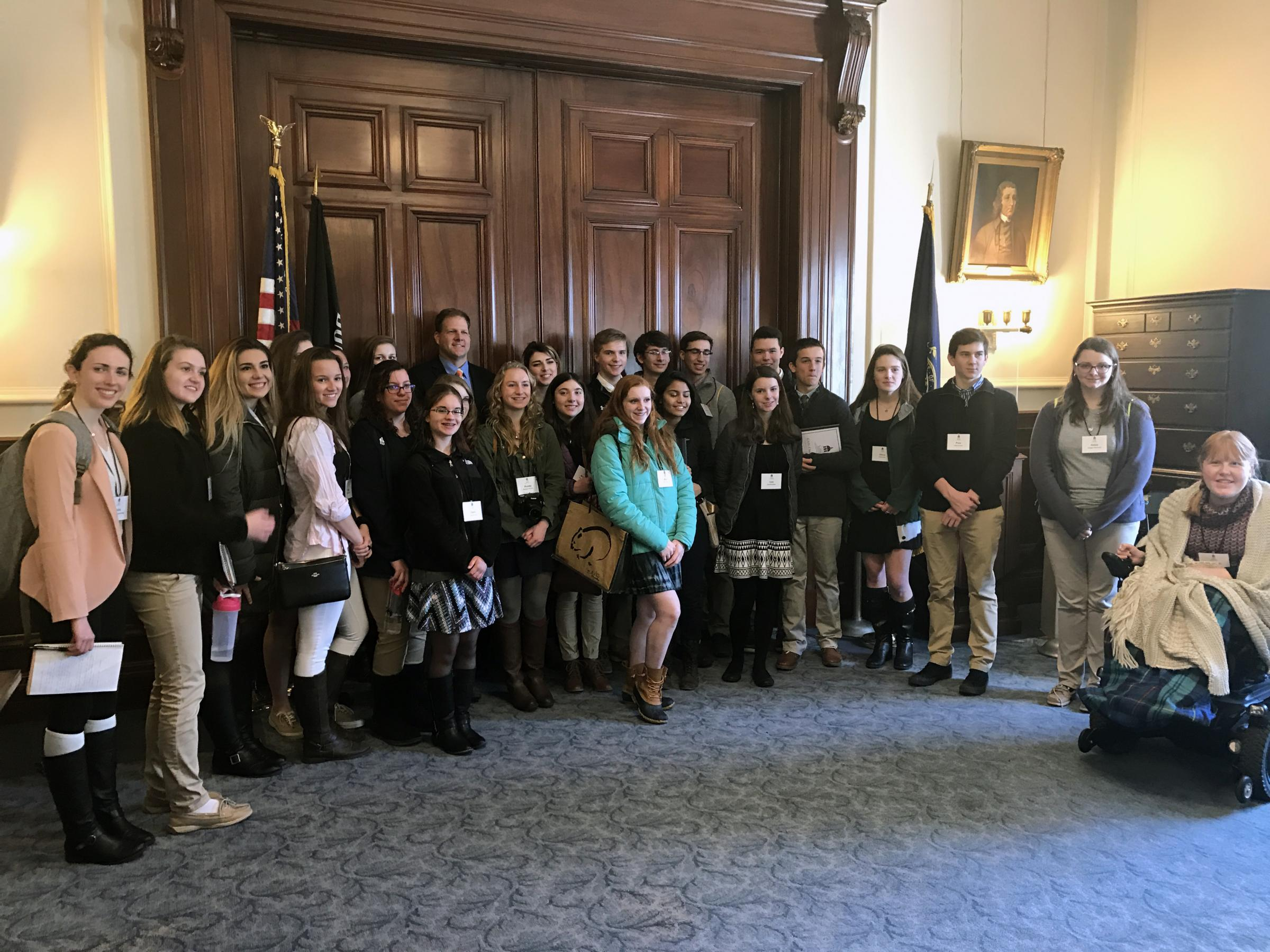 CASL Class of 2017 with New Hampshire Governor Chris Sununu
