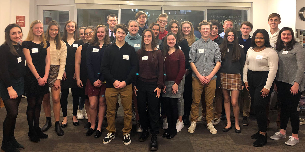 The Greater Concord Chamber of Commerce welcomed 25 students selected to take part in Capital Area Student Leadership (CASL) 2020 during a reception on Feb. 19.