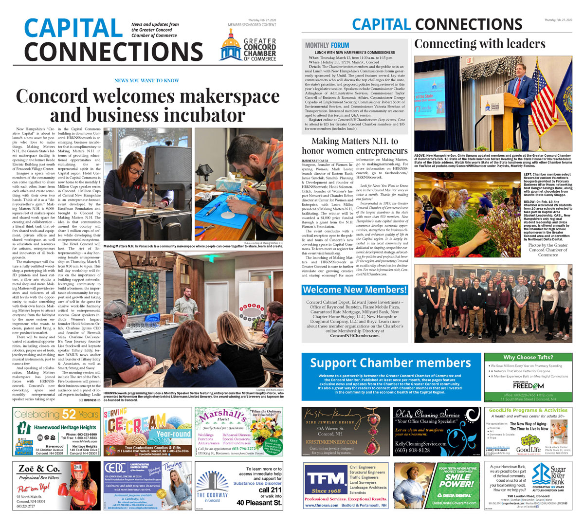 Read the Chamber's February 27 Capital Connections feature in The Concord Monitor.