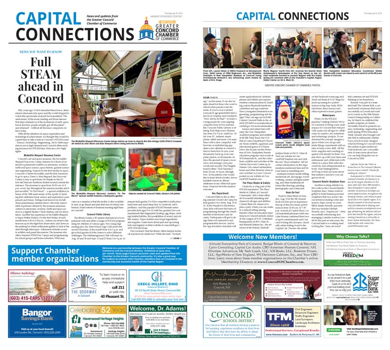 Read the Chamber's July 25 Capital Connections feature in The Concord Monitor.