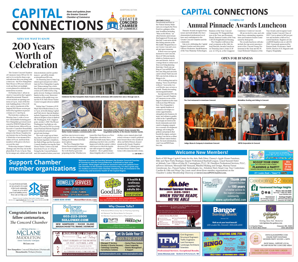 Read the Chamber's May 30 Capital Connections feature in The Concord Monitor.