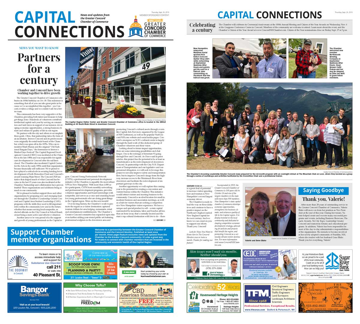 Read the Chamber's September 26 Capital Connections feature in The Concord Monitor.