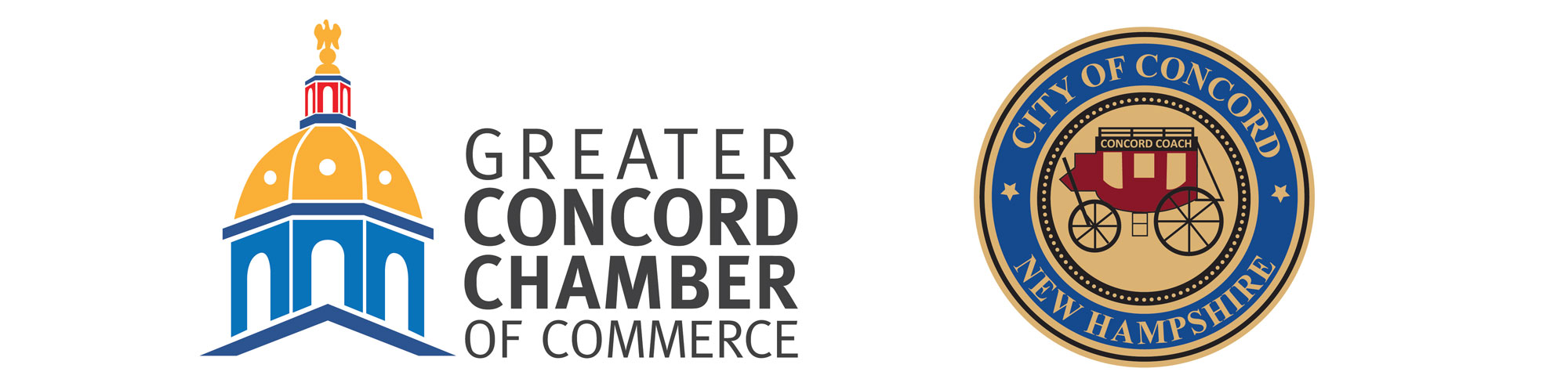 Logos for the Greater Concord Chamber of Commerce and City of Concord, New Hampshire