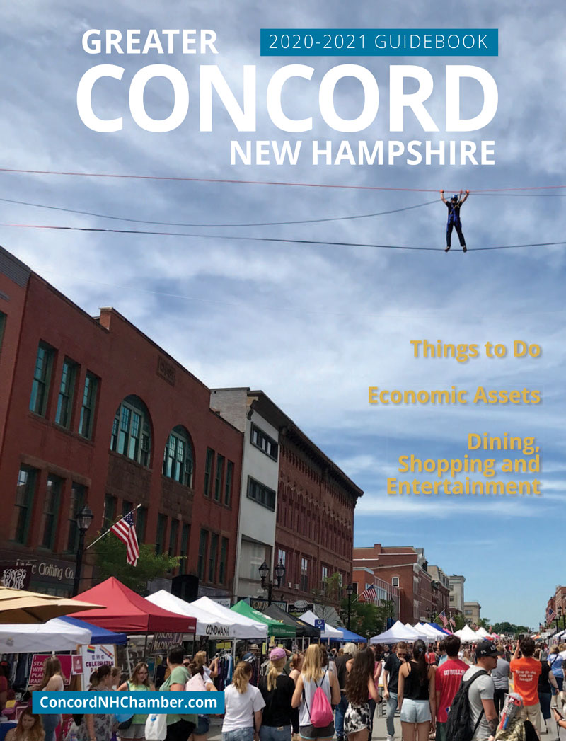 Cover image of the Chamber's 2020-2021 Guidebook to Greater Concord New Hampshire