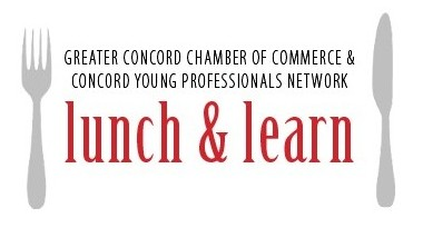 The Greater Concord Chamber of Commerce and Concord Young Professionals Network Lunch & Learn logo