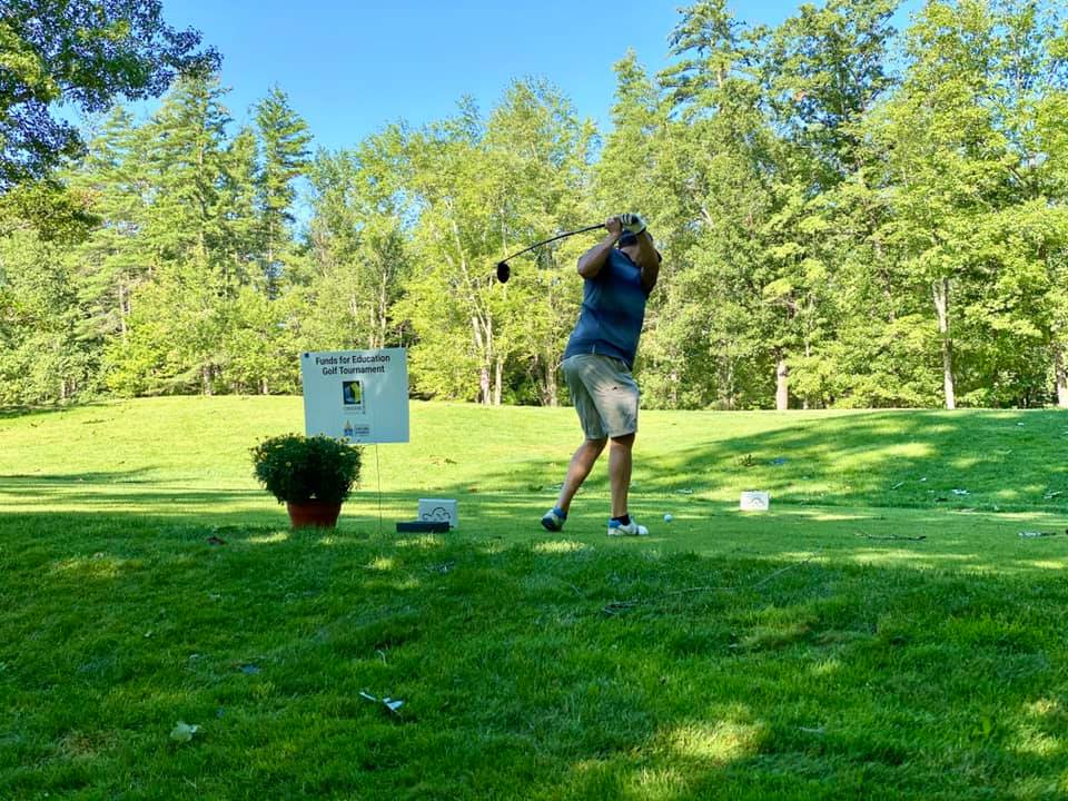 Players in the 2020 Annual Funds for Education Golf Tournament enjoyed a beautiful day at Beaver Meadow Golf Course in Concord while supporting local education initiatives