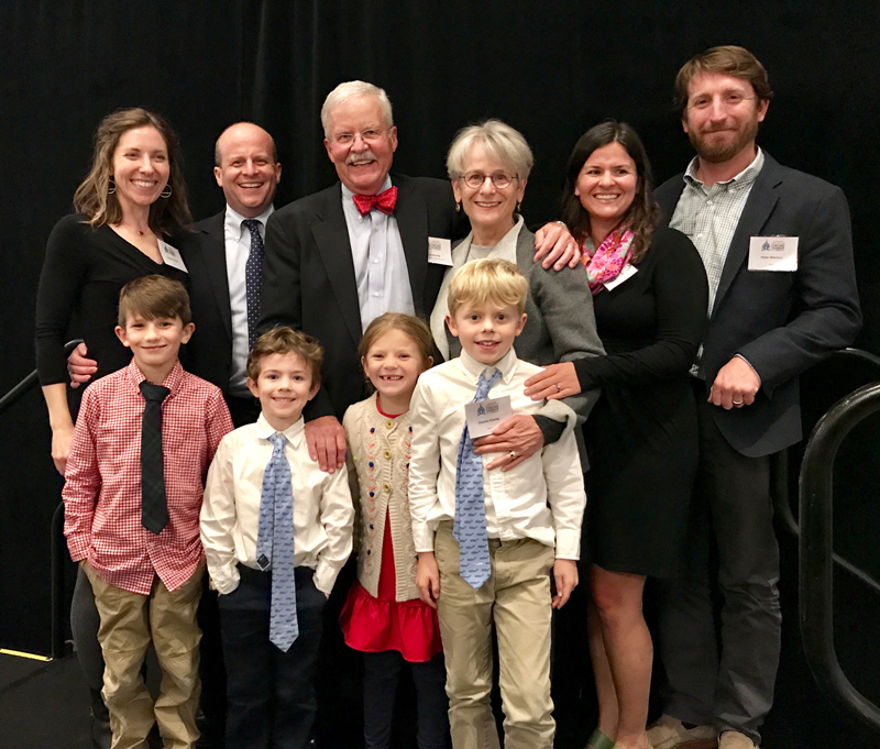 David Ruedig, Greater Concord Chamber of Commerce 2018 Citizen of the Year, and his family.