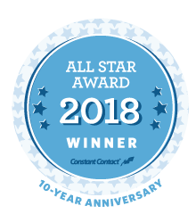 The Greater Concord Chamber of Commerce named 2018 All Star by Constant Contact for top 10% engagement and results.