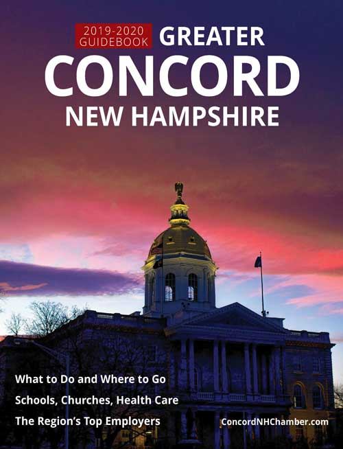 Cover image of the Chamber's 2019-2020 Guidebook to Greater Concord New Hampshire