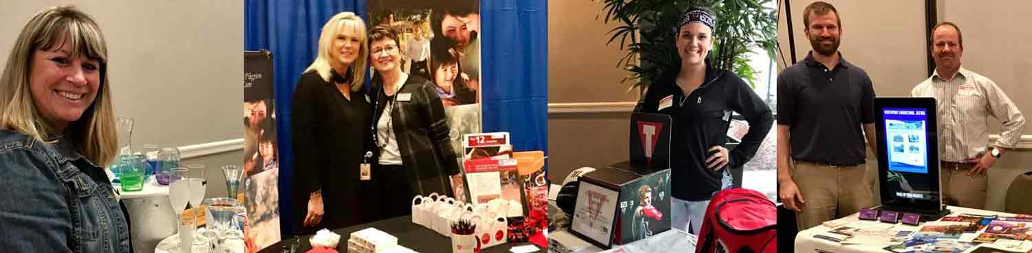 Greater Concord Chamber of Commerce members exhibiting at Business Showcase in 2017.