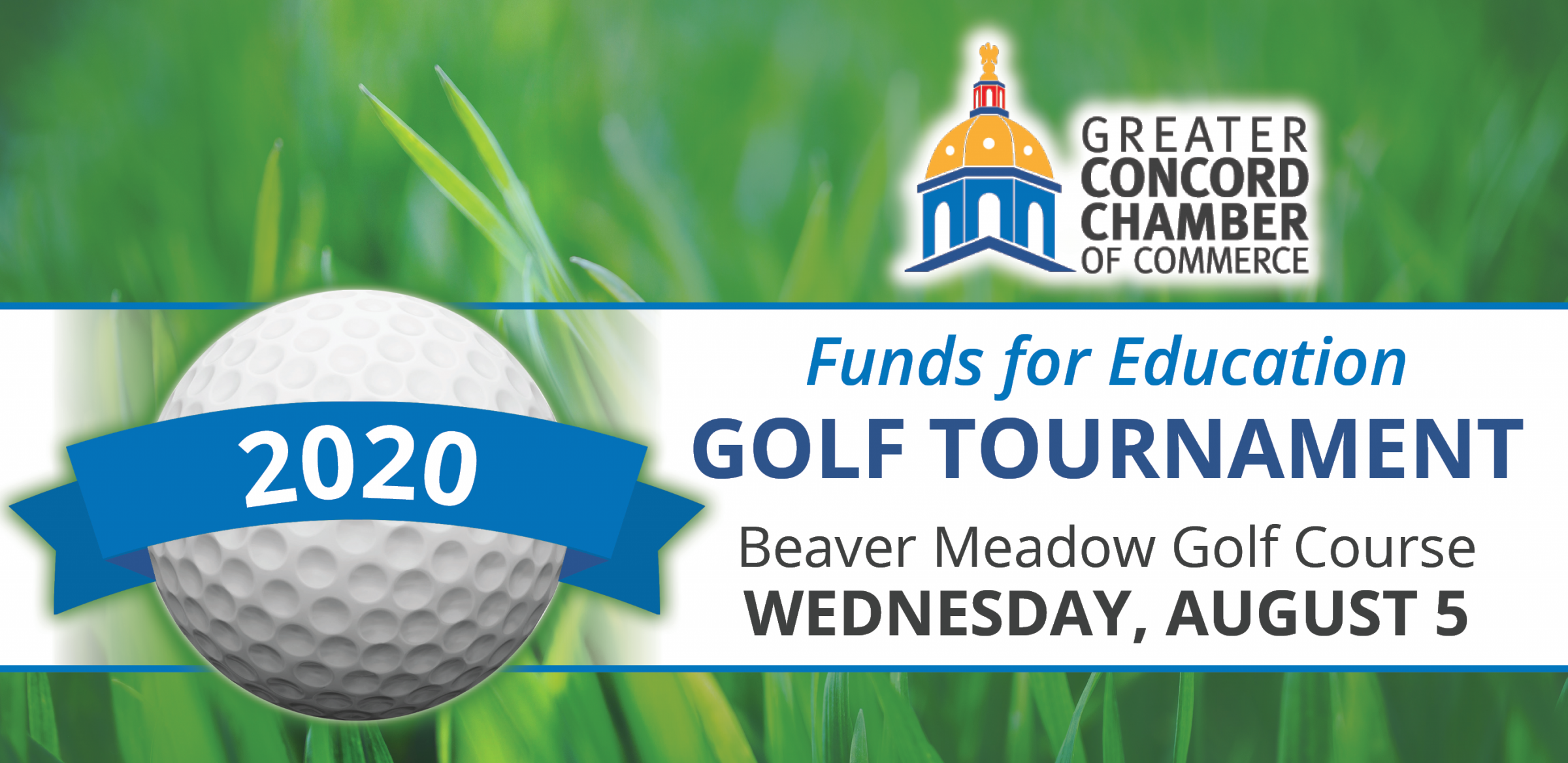 Graphic for 2020 Funds for Education Golf Tournament on Wednesday, August 5