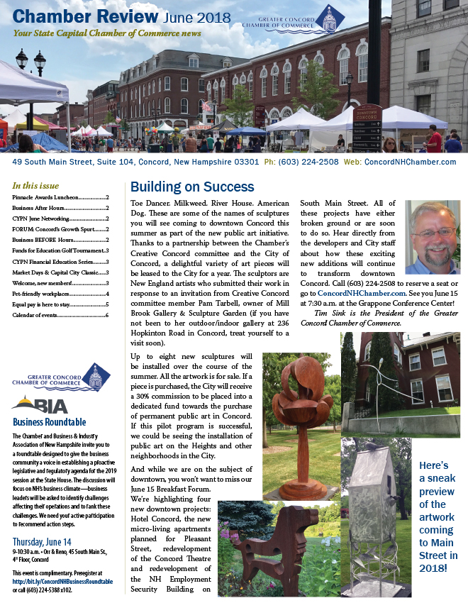 Chamber Review June 2018 cover