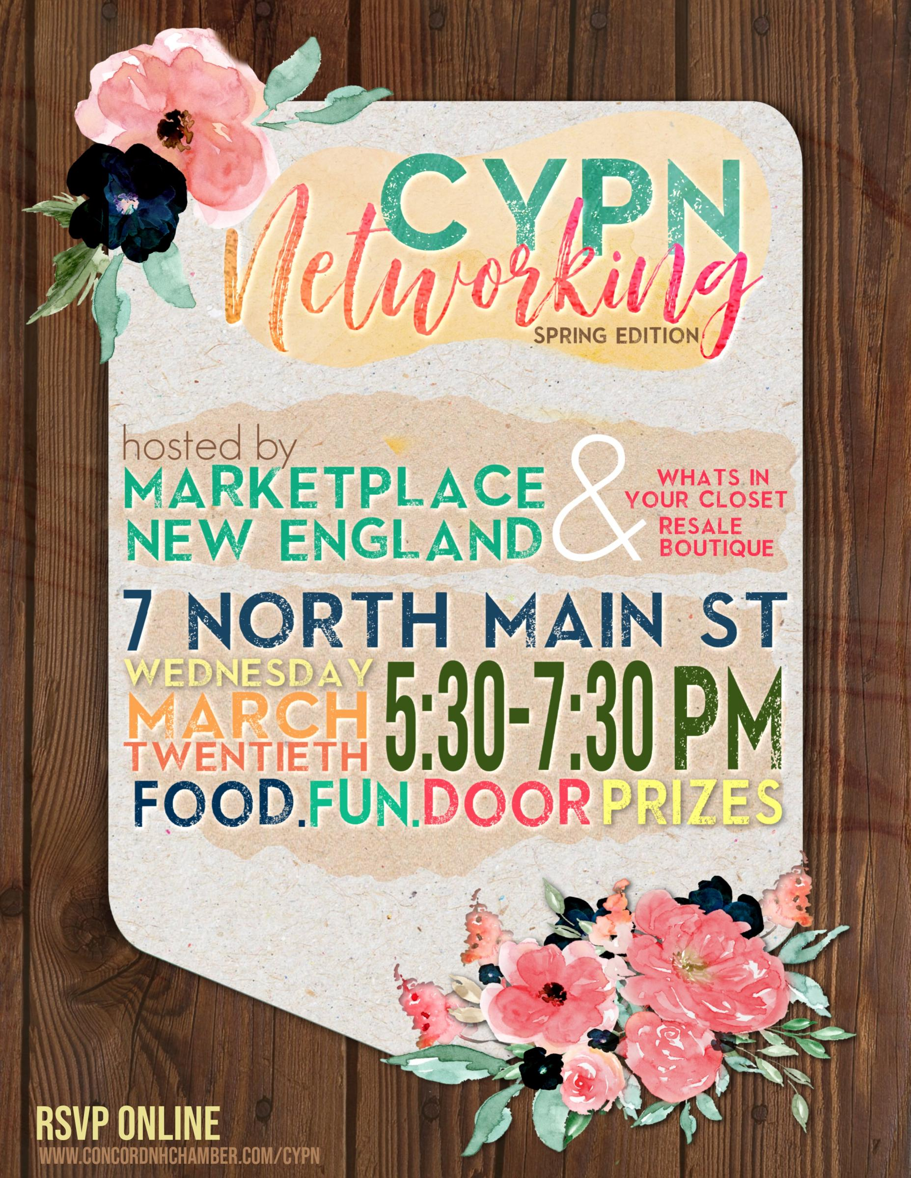 CYPN Networking March 2019