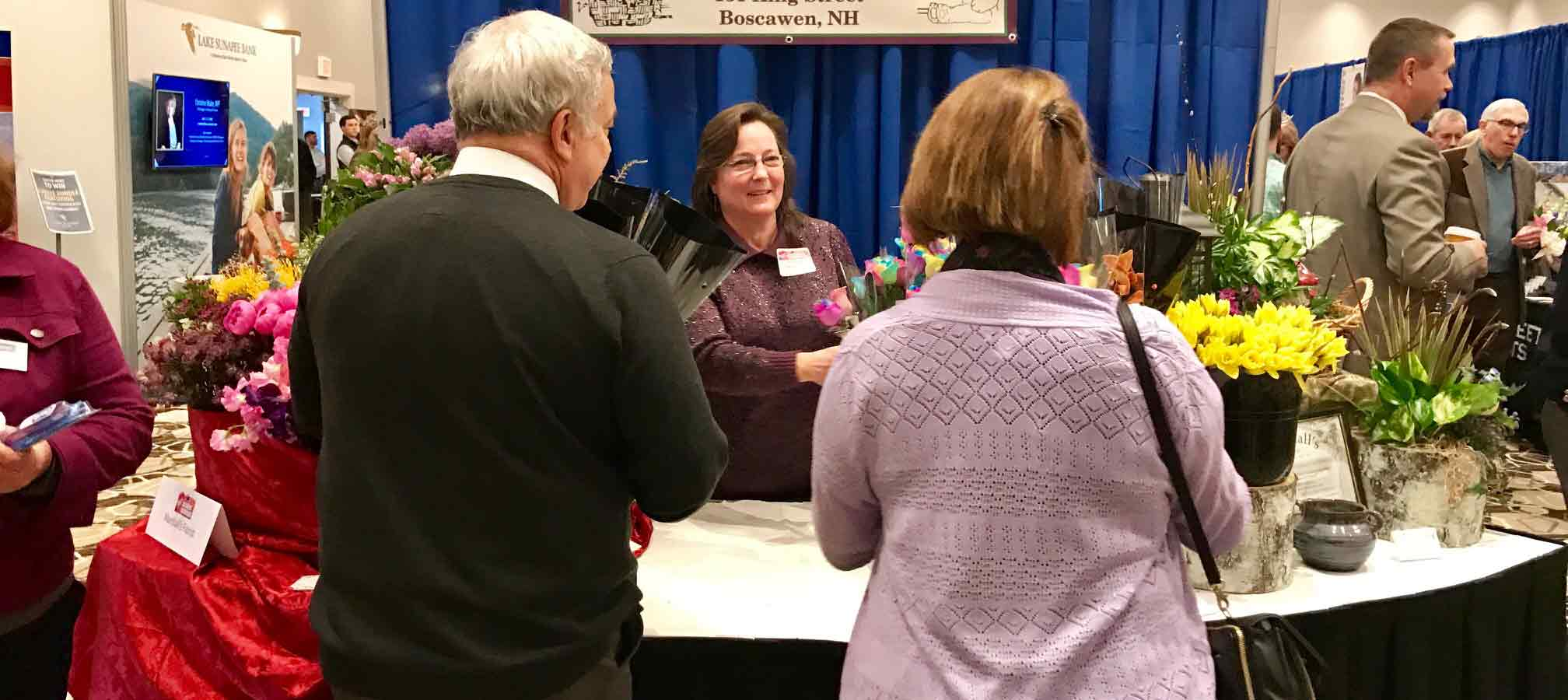 Greater Concord Chamber member Marshall's Florist exhibiting at Business Showcase.