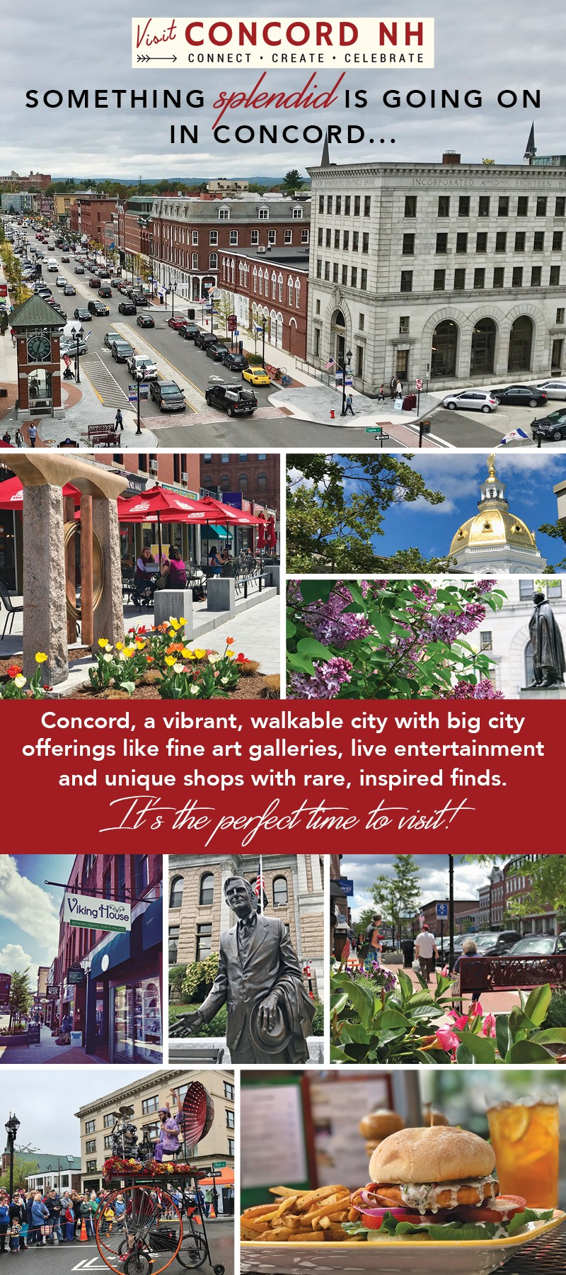 Pick up a VisitConcord-NH.com rack card at the I-93 North Welcome Center or in our 49 South Main Street Visitor Center