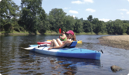 kayaking on the merrimack river
